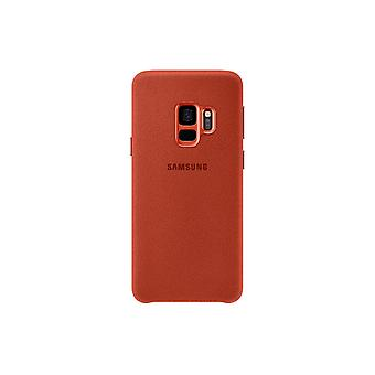 Samsung Galaxy S9 Alcantara rouge-couverture