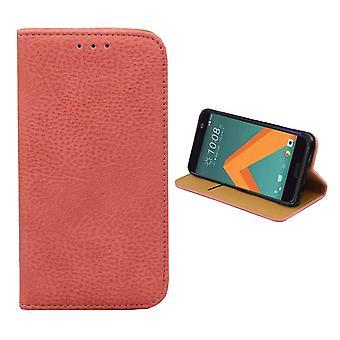 Bolsa de la carpeta de Colorfone HTC 10 (rosa)