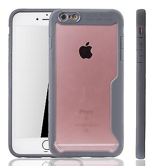 Grey Premium Apple iPhone 6 / iPhone 6s hybrid edition cover. Supports Wireless charging | fine acrylic with soft silicone edge gray