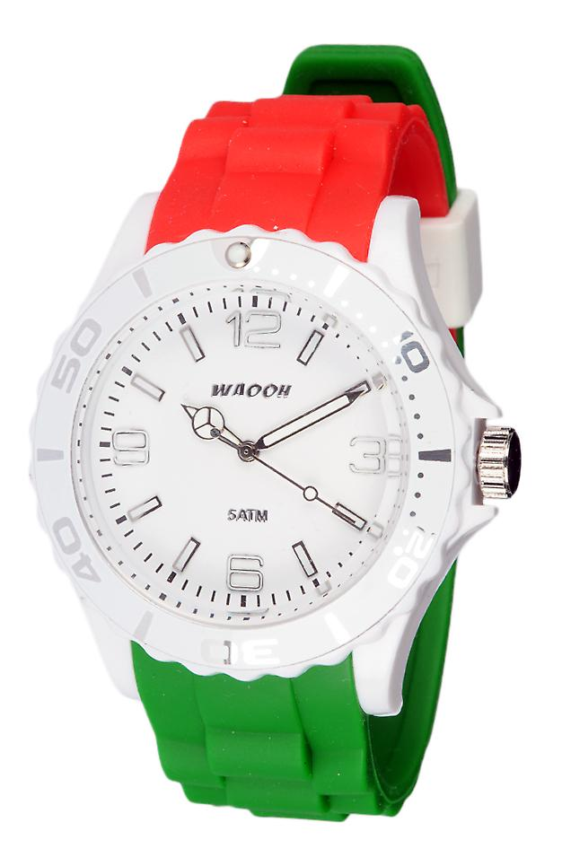 Waooh - italiensk flagga i MC42 Silicone Watch