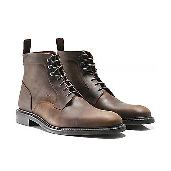 Loake Waxed Leather Crow Boots