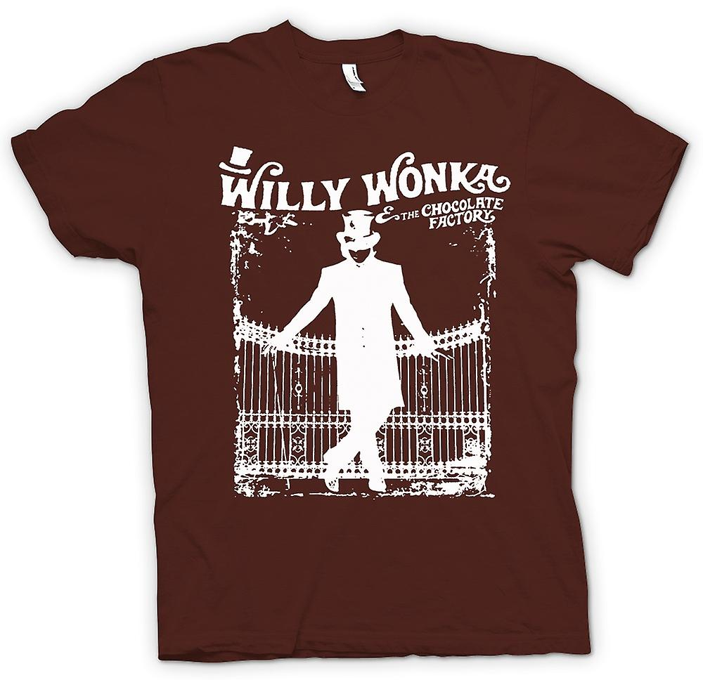 Heren T-shirt - Willy Wonka And Chocolate Factory - BW