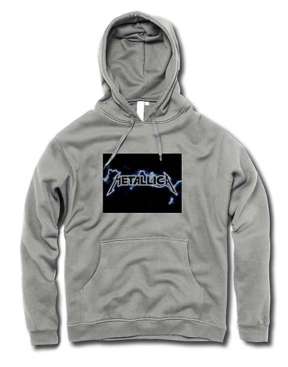 Mens Hoodie - Metallica Logo - Rock Metal