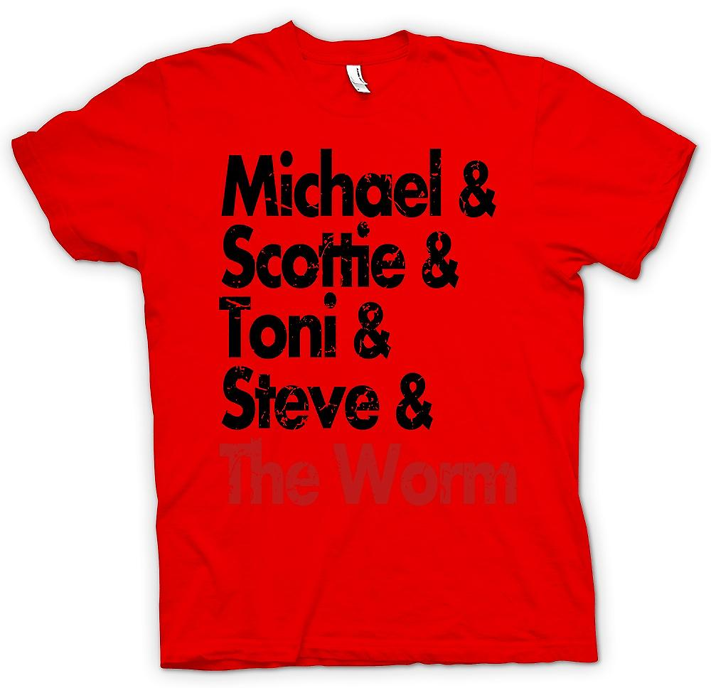 Herr T-shirt-Michael Scottie Tonie Steve och masken