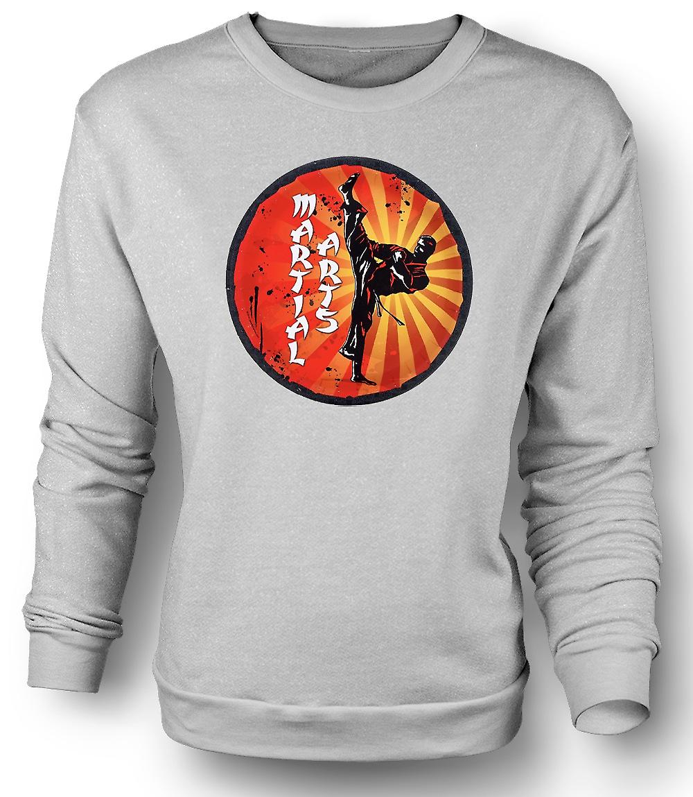 Mens Sweatshirt Martial Arts - Pop Art Design