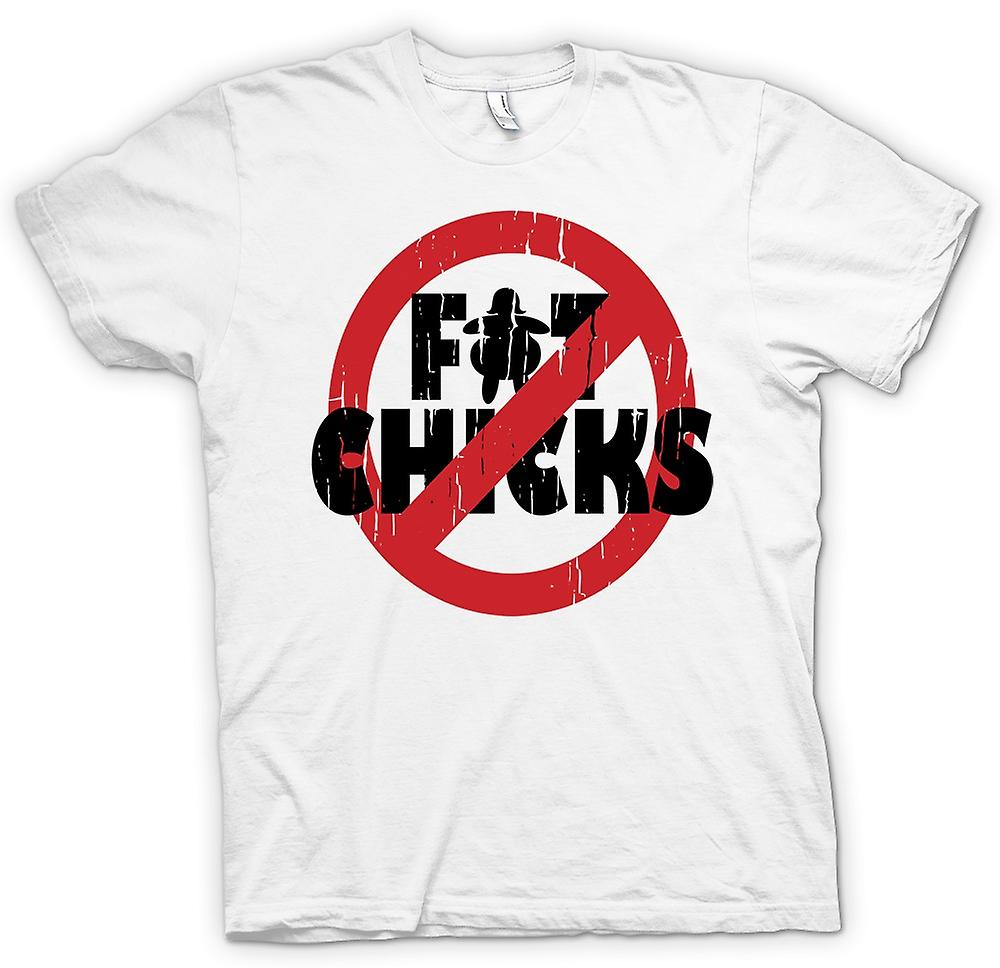 Womens T-shirt - No Fat Chicks - Funny Crude