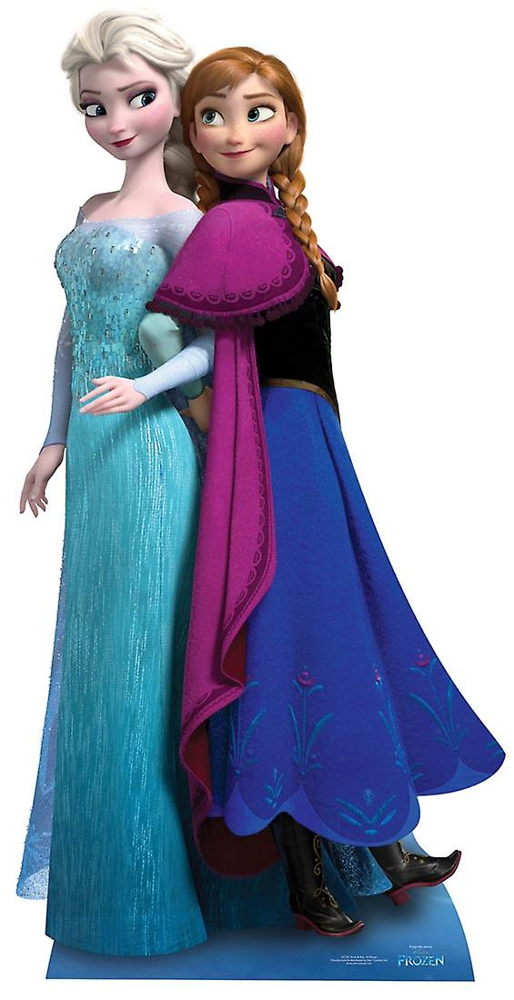 Anna and Elsa from Frozen Disney Cardboard Cutout / Standee