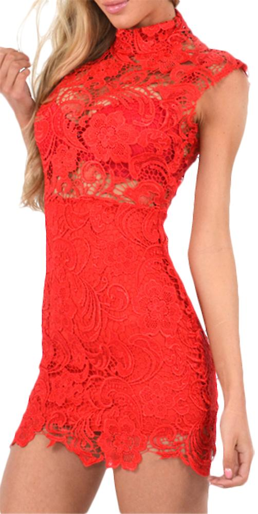 Waooh - Short Dress openwork Agan