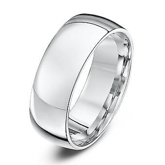 Star Wedding Rings Platinum Light Court Shape 7mm Wedding Ring