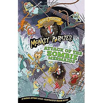 Attack of the Zombie Mermaids: A 4D Book (Nearly Fearless Monkey Pirates)