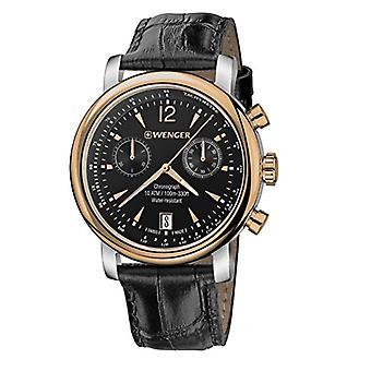 WENGER Watch chronograph quartz leather strap Unisex Adult Urban Vintage Chrono 01.1043.113
