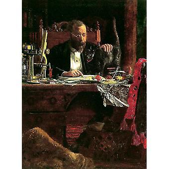 The Professor,Thomas Eakins,50x37cm