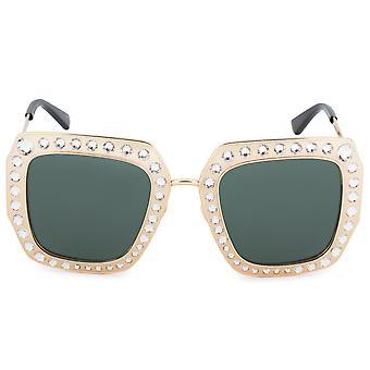 Gucci Square Polarized Sunglasses GG0115S 006 52