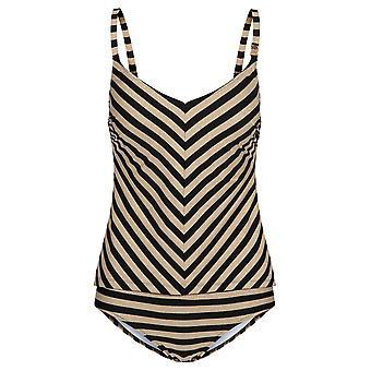 Feraud 3195026-16355 naisten Voyage kultainen ringlet raidallinen uimapuvut Beachwear Tankini Set