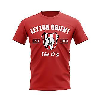 Leyton Oriente establecido fútbol camiseta (rojo)