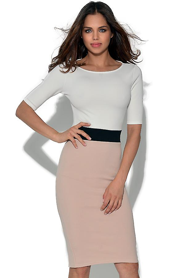 Kortärmad Två Tone Bodycon Dress