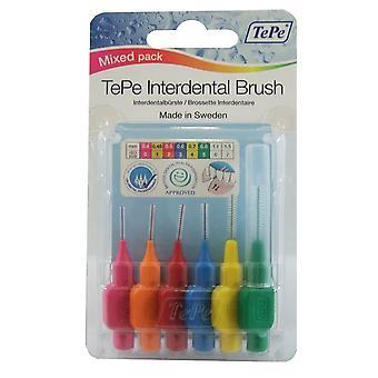 Tepe Interdental pensel blandet Pack 6