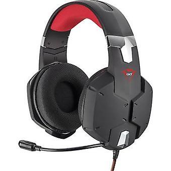 Zaufaj GXT322 dynamiczne Gaming Headset słuchawki jack 3,5 mm przewodowe Over--ear czarno czerwony