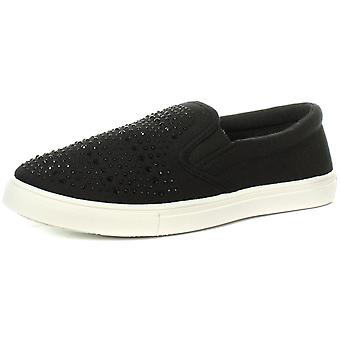 dek L9562A Sparkle Vamp Twin Gusset Womens Casual Slip On Shoes