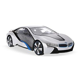 Licensed 1:14 BMW I8 Concept Remote Control Car Silver- RideonToys4u