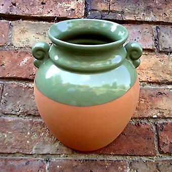 Hanging Terracotta Wall Pot Planter With Green Glaze