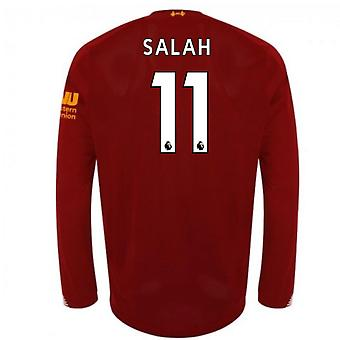 2019-2020 Liverpool Home Long Sleeve Shirt (Salah 11)