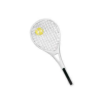 Wieczne kolekcji nikogo do tenisa żółte emaliowana srebrnej tonacji Broszka