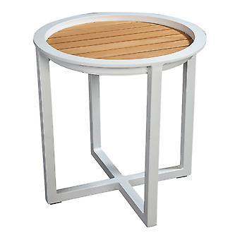 Flughafen7 | QUEENS LOUNGE TABLE TEAK 50CM |  Weiß | Gartentische