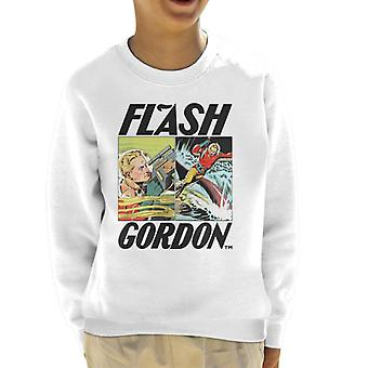 Flash Gordon Action Comic Montage Kid's Sweatshirt
