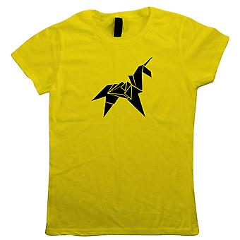 Origami Unicorn Womens Sci-Fi Movie Inspired T-Shirt