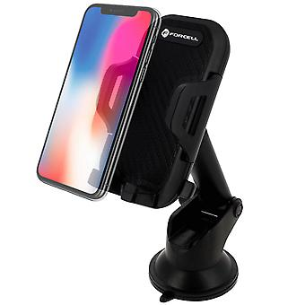Smartphone Car Holder 47 to 95mm Rotable Suction cup mount- Forcell, Black