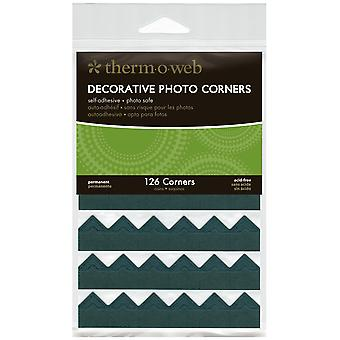 Decorative Photo Corners 126 Pkg Black Pcs126 3868