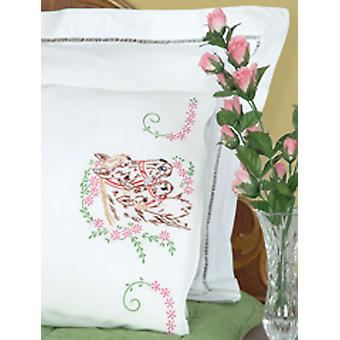 Stamped Pillowcases With White Perle Edge 2 Pkg Mare & Colt 1600 142