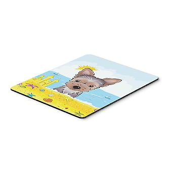 Yorkie Puppy Summer Beach Mouse Pad, Hot Pad or Trivet BB2100MP