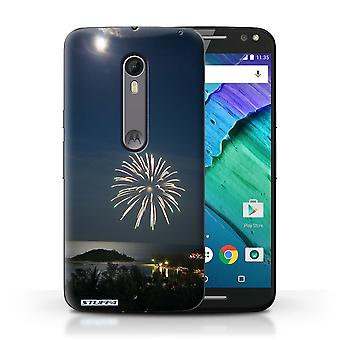 STUFF4 Case/Cover for Motorola Moto X Style/Firework/Moonlight/Thailand Scenery