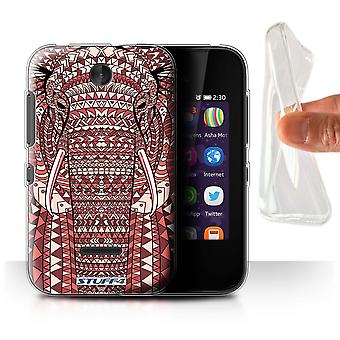STUFF4 Gel/TPU Case/Cover for Nokia Asha 230/Elephant-Red/Aztec Animal