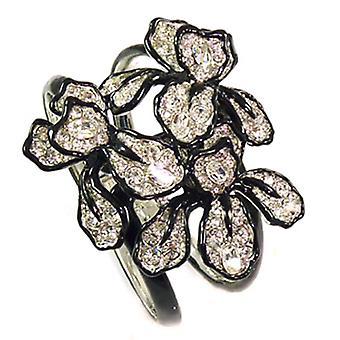 Kenneth Jay Lane stor Crystal Iris blomst mansjett Bangle