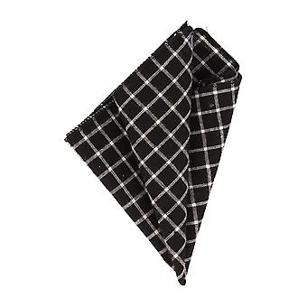Mr. icone handkerchief Hanky diamond pattern black
