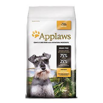 Applaws hund tør Senior alle avle kylling 7,5 kg