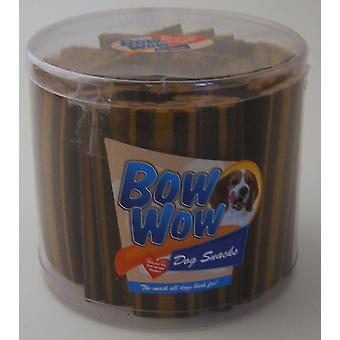 Bow Wow striber røget oksekød 35g (Pack af 40)