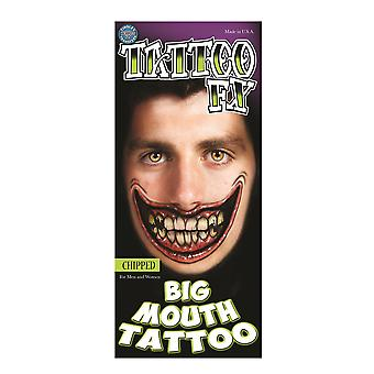 Tinsley Transfers Chipped Big Mouth Tattoo FX