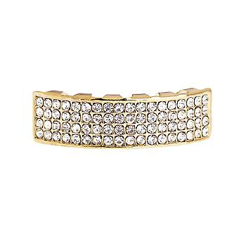 One size fits all - FOUR LINE BOTTOM - gold bling Grillz