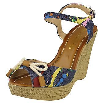 Ladies High Wedged Sling Back Espadrille Sandal