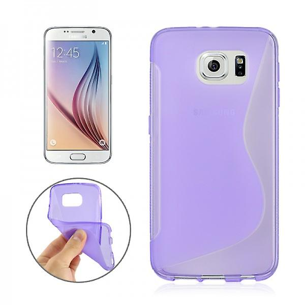 S-line silicone case purple for Samsung Galaxy S6 G920 G920F