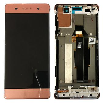 Sony display LCD complete unit with frame for Xperia XA F3111 F3112 Rosegold spare parts