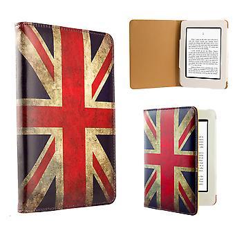 Design Buch Gehäusedeckel für Amazon Paperwhite E-Reader - Union Jack