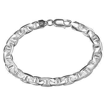 Mens Bracelet Anchor Chain 9 Inches in Sterling Silver .925