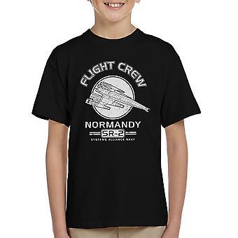 Normandy Flight Crew Mass Effect Kid's T-Shirt