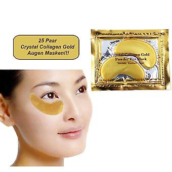 25 Pair Golden Eye Collagen Pads with Hyaloronic Acid and Q10