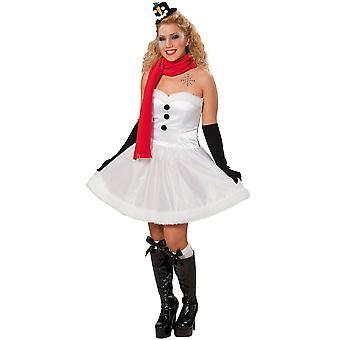 Vrouwen kostuums sneeuwpop Kerstmis kleding dames